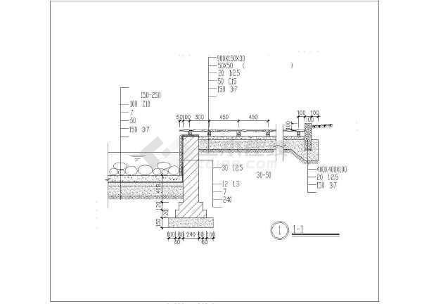 木平面台及屋顶花园设计cad详图-图二