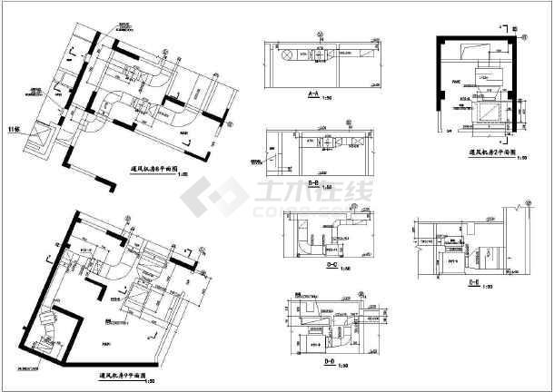 点击查看某商住楼地下室设计图纸  地下建筑面积约29000平方米第2张大图