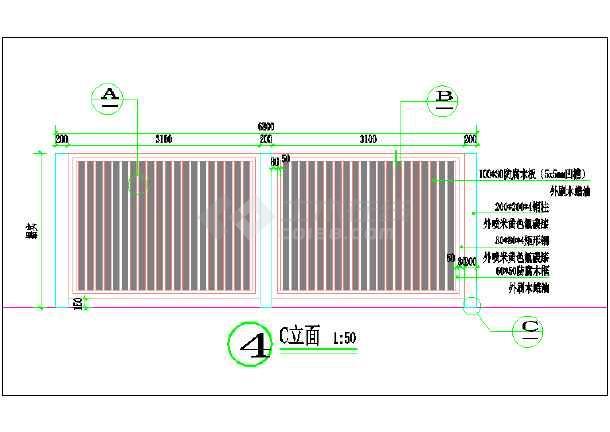 某小区箱变围栏装饰设计详图-图一