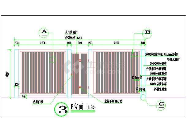 某小区箱变围栏装饰设计详图-图二