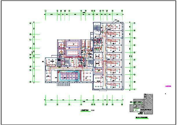 点击查看某七层消防站室内装潢工程电气设计图第1张大图