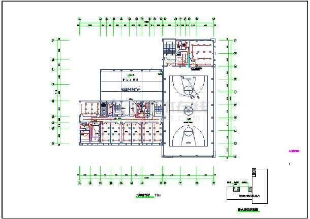 点击查看某七层消防站室内装潢工程电气设计图第2张大图