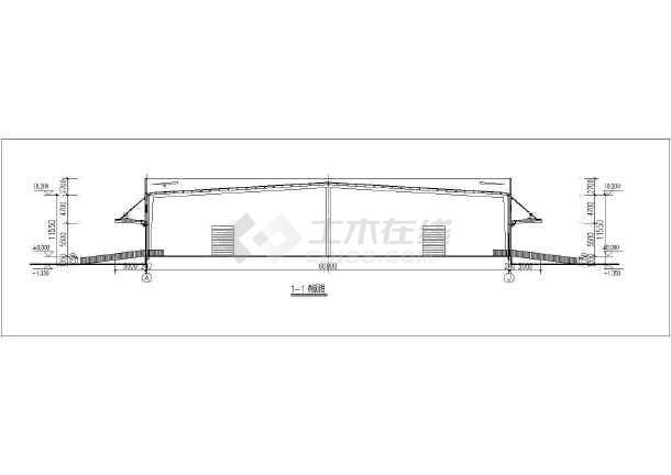 某单层钢结构仓库建筑施工图-图一