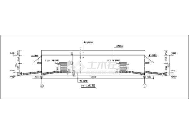 某单层钢结构仓库建筑施工图-图二