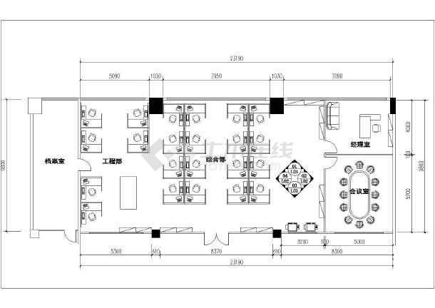 点击查看白石湖办公室装修CAD图纸2018年第1张大图