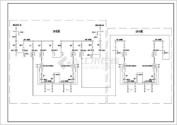 某大厦新建2#高基配电室工程施工图(建筑面积约7万平方米)-图一