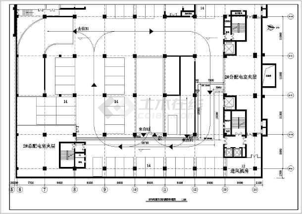 某大厦新建2#高基配电室工程施工图(建筑面积约7万平方米)-图二