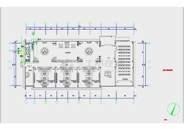 某实训楼两层给排水设计CAD图纸-图一