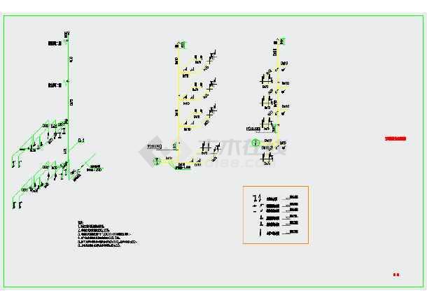 某实训楼两层给排水设计CAD图纸-图二
