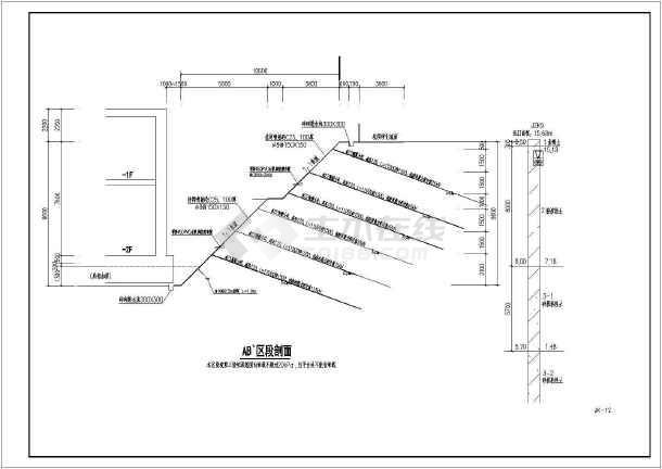 点击查看粤西某商业广场基坑支护设计图第1张大图