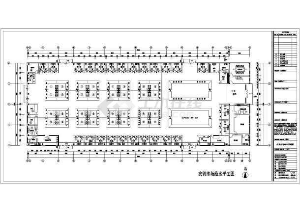 苏州某农贸市场室内装修给排水设计-图二