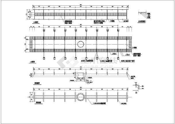 点击查看某钢结构广告牌设计施工图(主体高度21米)第1张大图