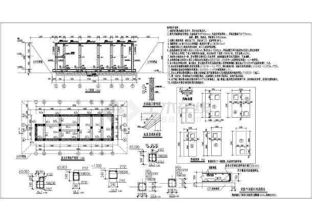 某25㎡卫生院污水处理池建筑结构施工图 -图一