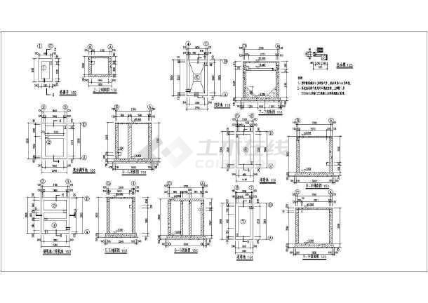 某25㎡卫生院污水处理池建筑结构施工图 -图二