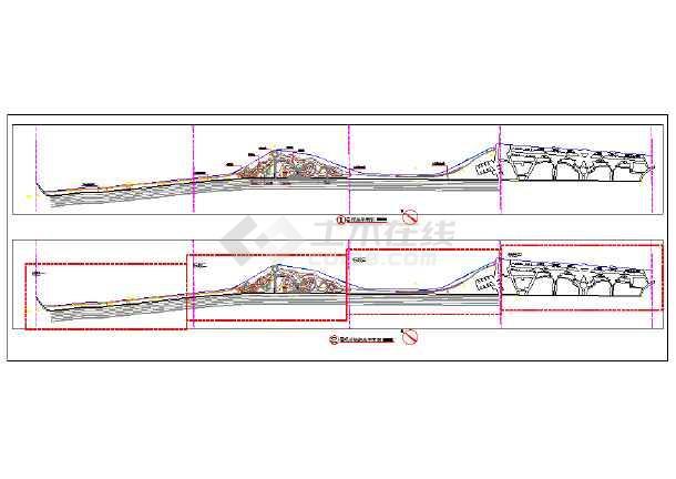 美丽乡村 东埔村景观改造工程设计CAD施工图-图二