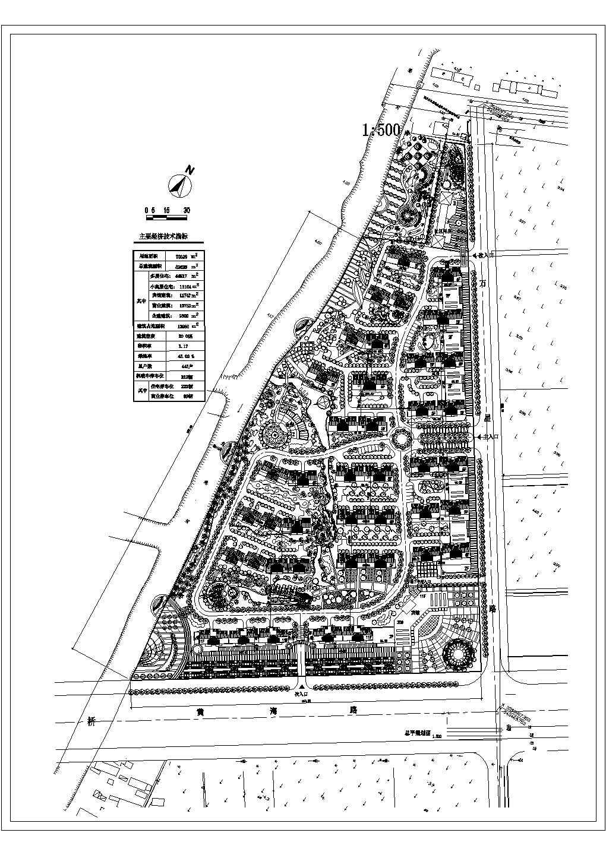 某用地居住区规划建筑总平面图(初设图)图片1