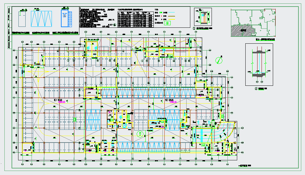 地下车库建筑平面施工图纸图片1