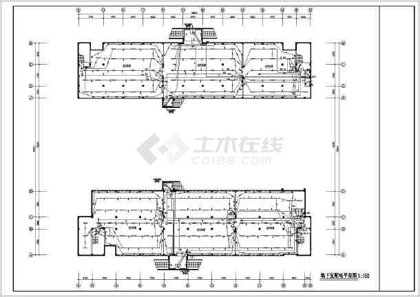 5套 多层教学楼电气设计施工CAD图纸-图二