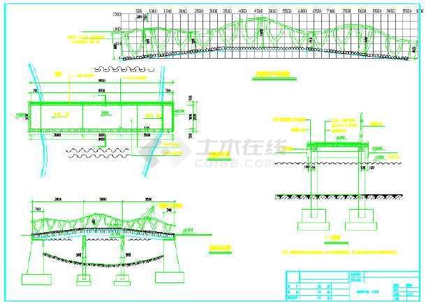 71套各类型园林桥、拱桥、景观桥等施工图纸-图二