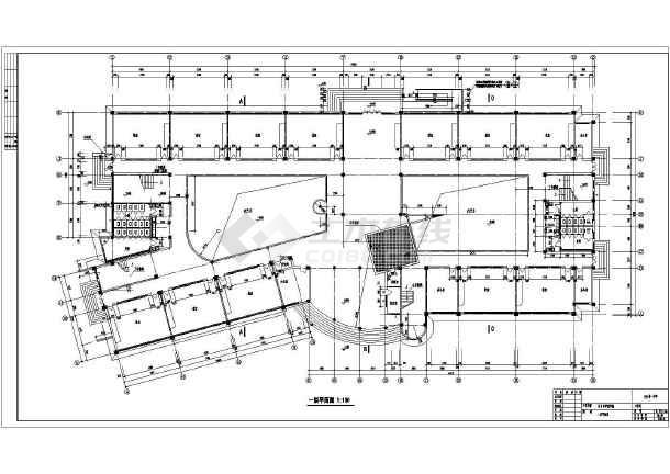 5套多层教学楼建筑设计cad图纸图片