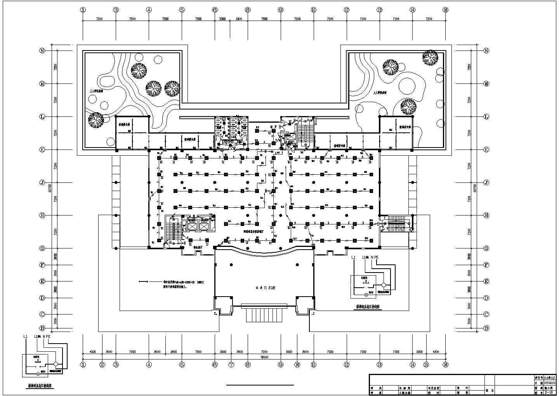 五层图书馆电气图纸(包含3套图纸)图片2