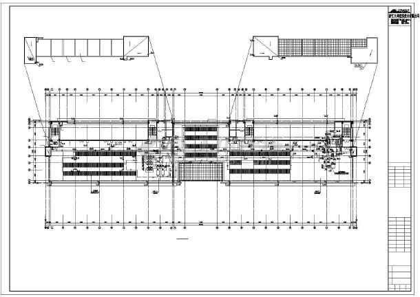 4套8层办公楼给排水施工CAD图纸-图二
