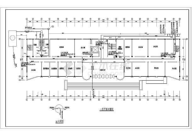 高层办公楼给排水图纸(包含6套图纸)-图二