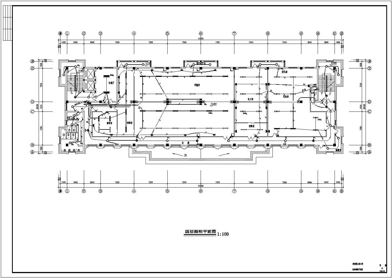 高层办公楼电气图纸(共5套图纸)图片2