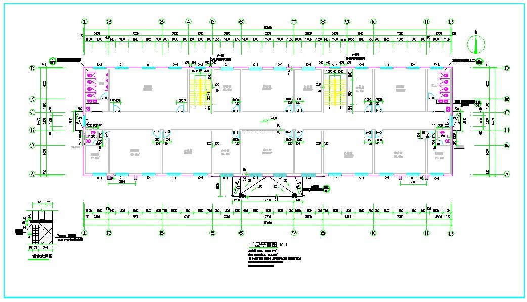 高层办公楼给排水施工图纸(包含5套图纸)图片3