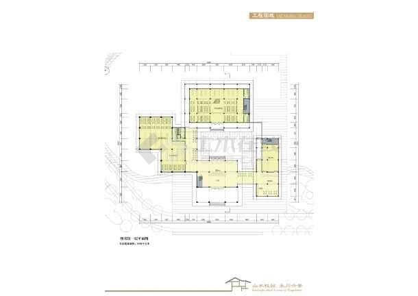 [方案][重庆]多层江南园林风格书院建筑设计方案文本(含教学楼及宿舍)精VIP-图一