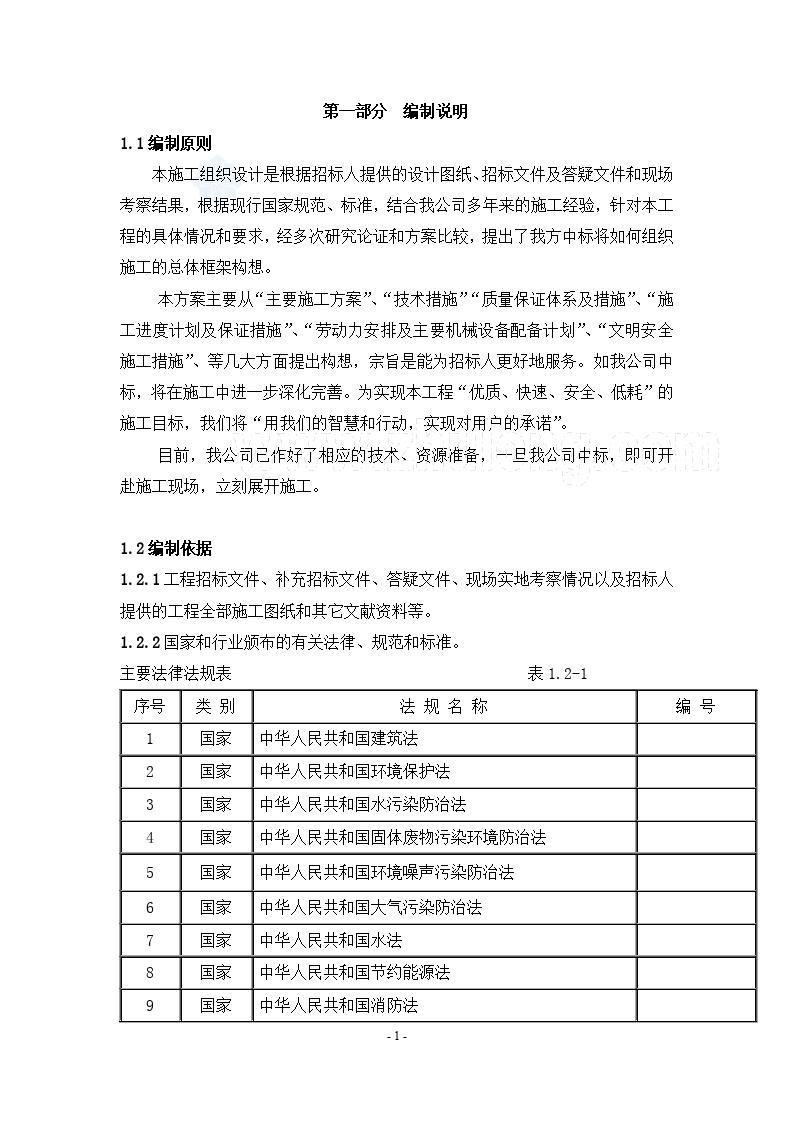 江苏某小区景观工程施工组织设计方案-图一