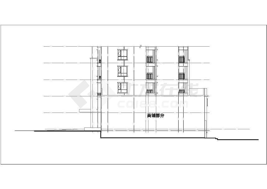 某小区高层带底商住宅楼全套设计施工图纸(33层 剪力墙结构 包含建筑结构水暖电)-图一