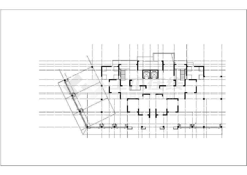 某小区高层带底商住宅楼全套设计施工图纸(33层 剪力墙结构 包含建筑结构水暖电)-图二