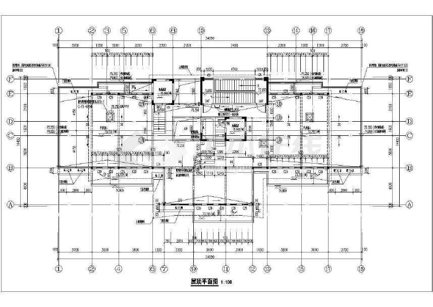 某小区120平户型高层剪力墙结构全套施工图(含建筑和结构图纸)-图二