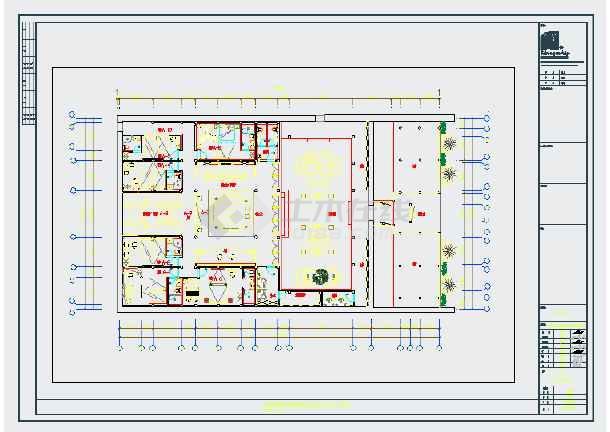 某民宿客栈全套室内装饰设计施工图(含水电图)-图一