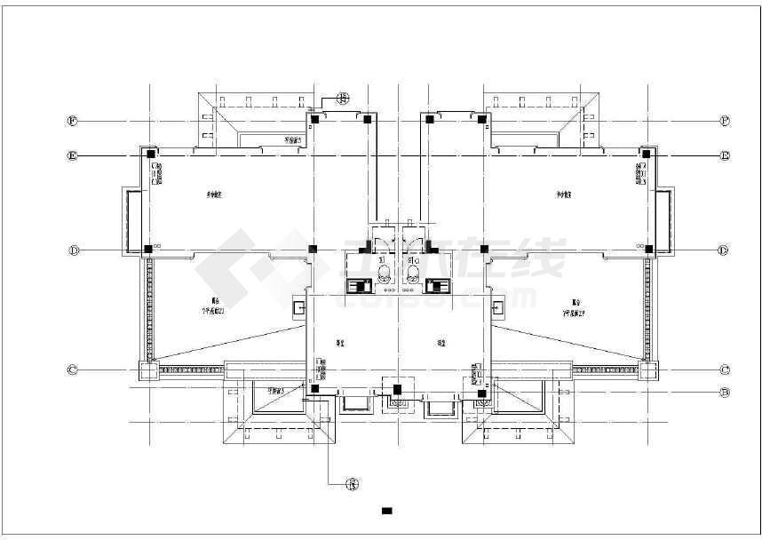 某小区三层框架别墅建筑设计施工图(徽式建筑)-图二