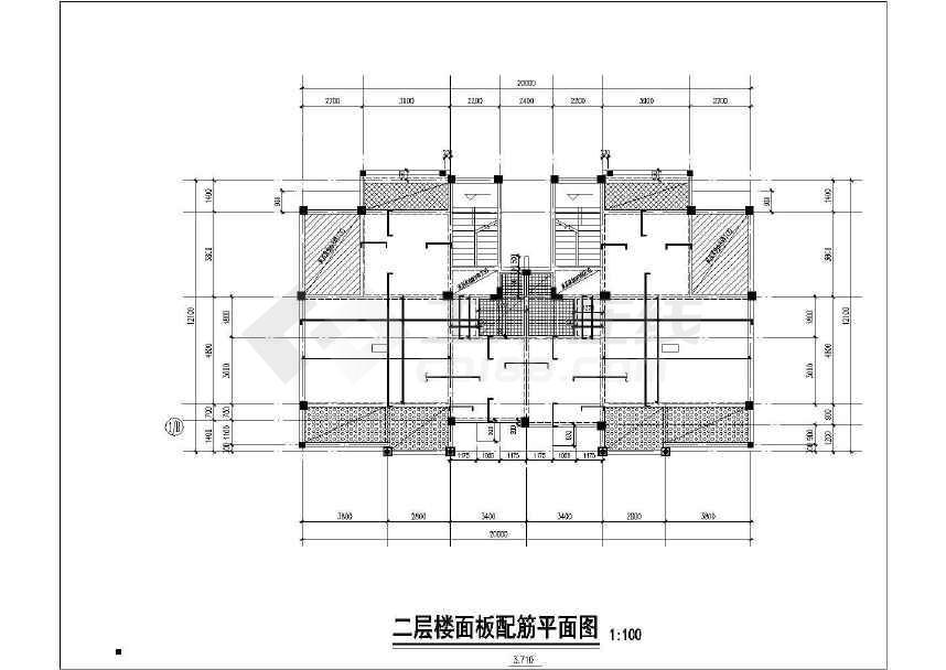 某小区三层框架别墅结构施工图(地上建筑面积580平方米)-图一