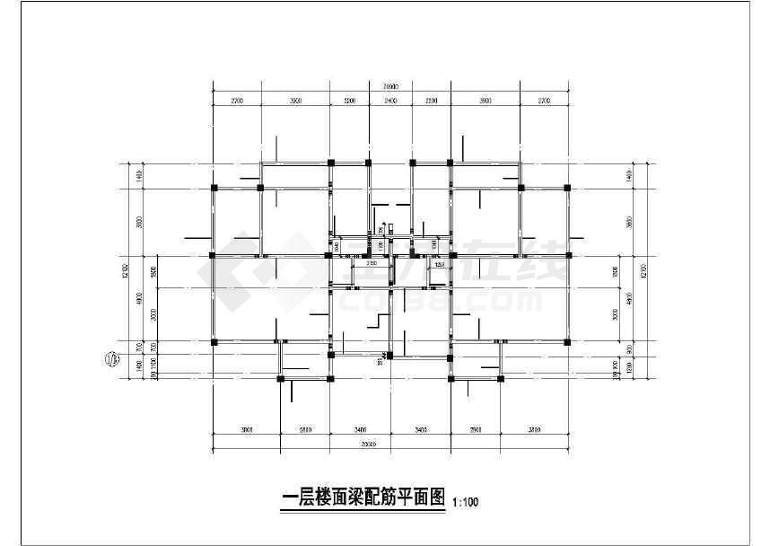 某小区三层框架别墅结构施工图(地上建筑面积580平方米)-图二