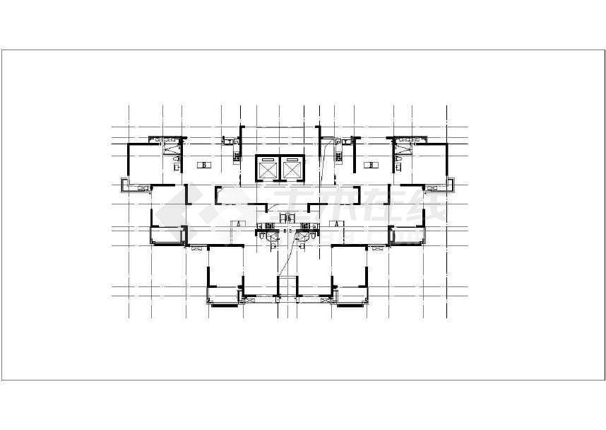 某高层带底商剪力墙结构商业住宅全套施工图(含建筑结构水电暖)-图一
