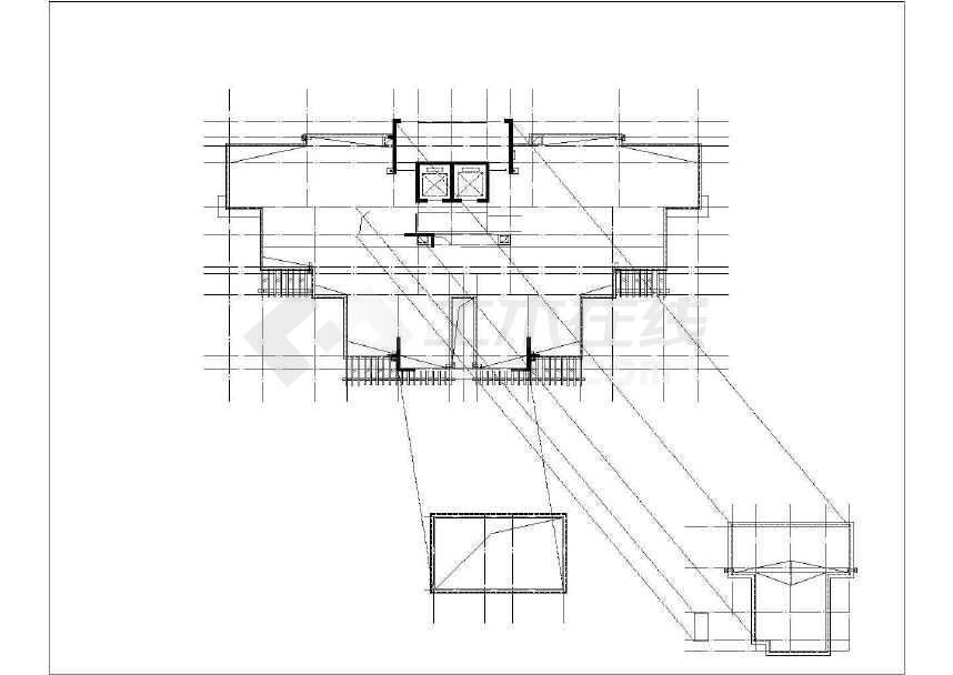 某高层带底商剪力墙结构商业住宅全套施工图(含建筑结构水电暖)-图二