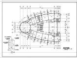 长44.5米 宽30米 -1+9层8588.5平米集团公司科研信息中心[办公楼]建筑施工图图片1