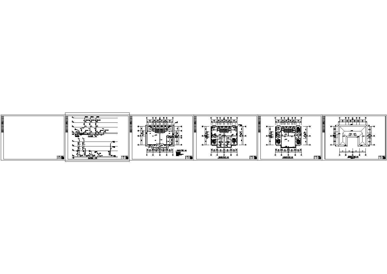 三层自建房别墅住宅给排水施工图图片2