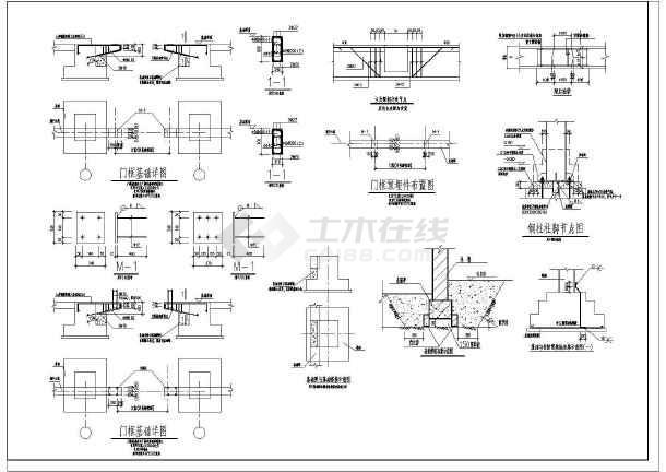 带吊车的门市钢架厂房CAD结构图-图二