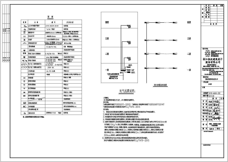 办公楼电气图办公楼电气施工CAD图纸图片2