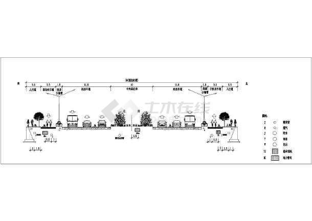 市政工程给排水施工CAD图-图一