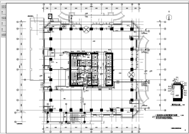 超高层办公楼给排水CAD施工图图片2
