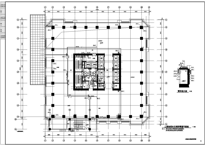 超高层办公楼给排水CAD施工图图片3