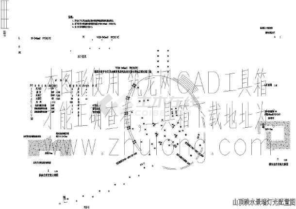 深圳公园一期东片区园林环境设计施工图-图一