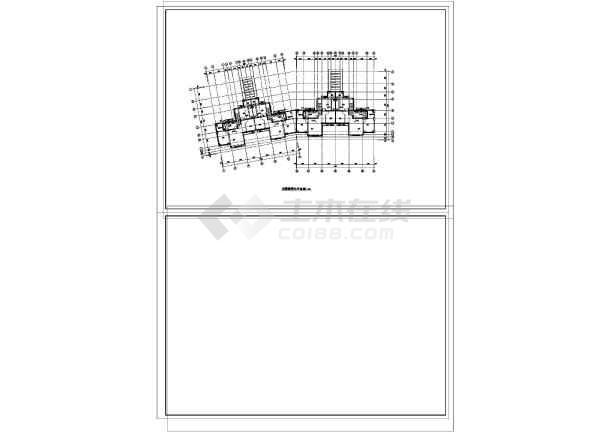 [辽宁]4层居住建筑给排水施工图(同层排水)-图一