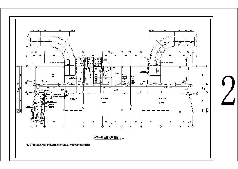 [河南]9060.2�O多层办公楼给排水施工图图片2